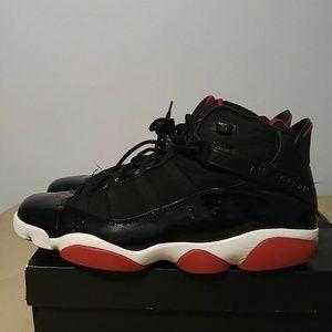 Air Jordan 6 Rings Black/Varsity Red-White